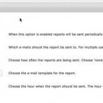 CM Custom Reports Specific Report Schedule Settings